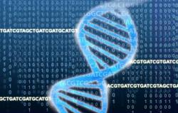 DNA Double Helix with data